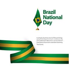 Brazil national day flag template design vector