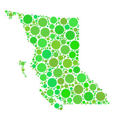 British columbia province map mosaic of circles vector