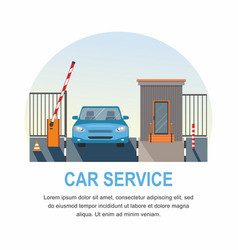 car service automatic rising up barrier vector image
