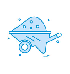 cart labor trolley icon design vector image
