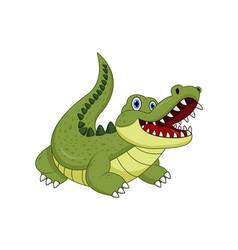 cartoon crocodile isolated on white background vector image