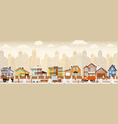 City life winter vector