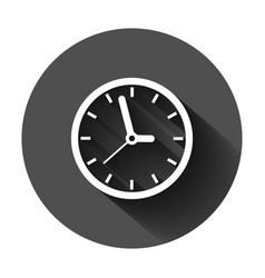 Clock sign icon in flat style time management on vector