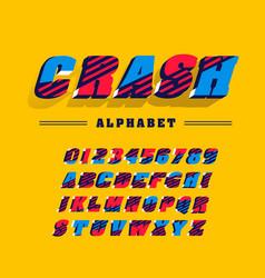 comics super hero style font alphabet letters vector image