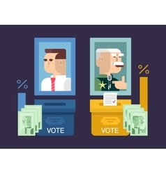 Concept elections design flat vector
