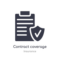 Contract coverage icon isolated contract coverage vector