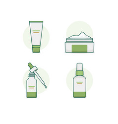 cosmetic packaging icon set vector image