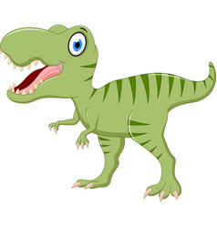 cute tyrannosaurus cartoon vector image