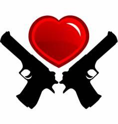 dangerous love vector image vector image