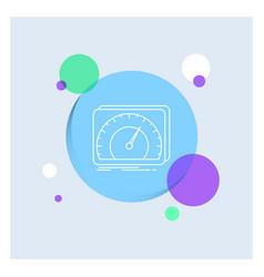 Dashboard device speed test internet white line vector