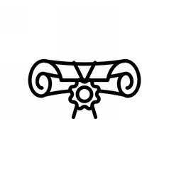 Diploma Outline Icon vector