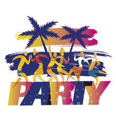 disco party on beach vector image