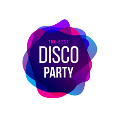 Disco party trend frame typography vector