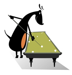 Dog pool player vector