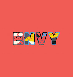 Envy concept word art vector