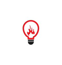 fiery abstract lamp logo design template vector image
