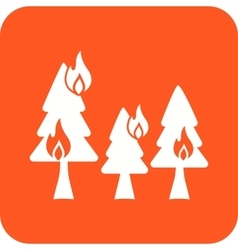 Fire in Forest vector image