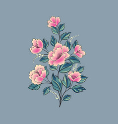floral background flower rose bouquet isolated vector image