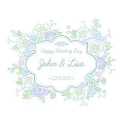 Floral wedding label vector