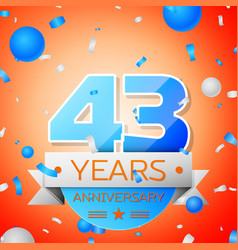 Forty three years anniversary celebration vector