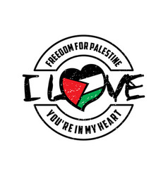 Freedom for palestine design vector