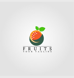 fruits logo template logo for business corporate vector image