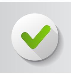 Green Check Mark Icon Button vector