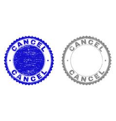 grunge cancel textured watermarks vector image