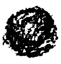 Hand crafted textured drawn circle vector