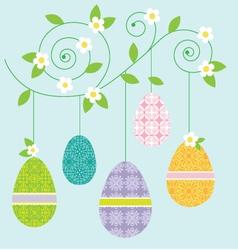 Hanging eggs vector