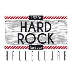 Hard rock halleluah poster vector