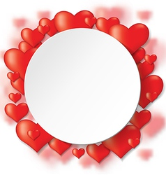 heart backg round vector image