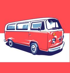 Hippie car art vector