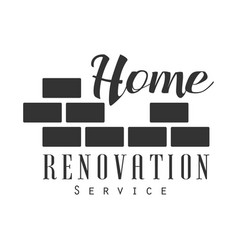 home repair and renovation service black and white vector image vector image