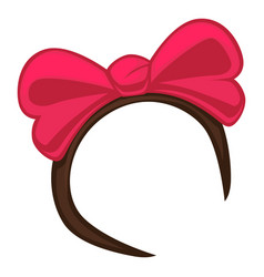hoop for head beauty accessory with big pink vector image