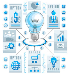infographics template idea light bulb concept vector image