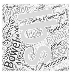 Irritable bowel symdrom Word Cloud Concept vector