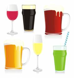 isolated glasses vector image vector image