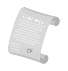 Last will icon in monochrome style isolated on vector