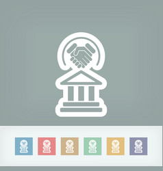 legal agreement icon vector image