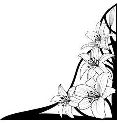 Lily corner vector
