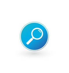 magnifying glass icon in circle flat style for vector image