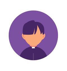 man priest religion person flat design icon vector image