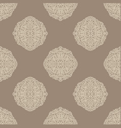 mandala beige pattern asian seamless pattern vector image