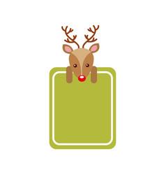 merry christmas reindeer decoration banner vector image