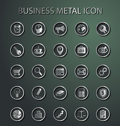 metal Business Icons vector image