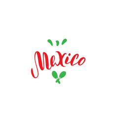 mexico typography logo design template tourism vector image