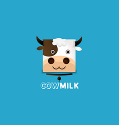 milk logo template vector image