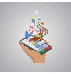 Mobile phone applications navigation communication vector image