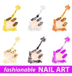 nail art vector image